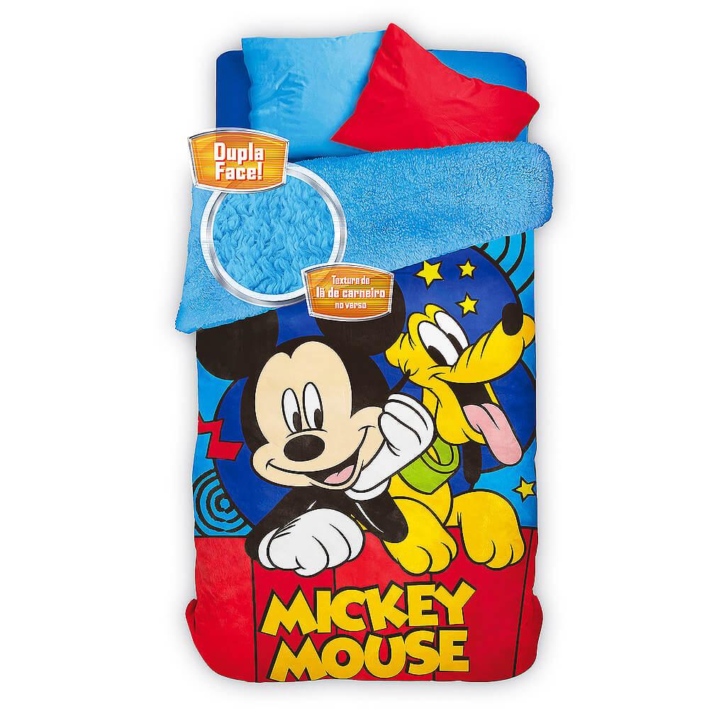 57cc5f63fa Cobertor   Edredom Infantil Mickey Fleece - Lepper - emporiodolencol