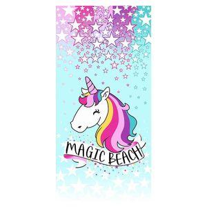 toalha-praia-unicornio-infantil-santista-magic-100-algodao