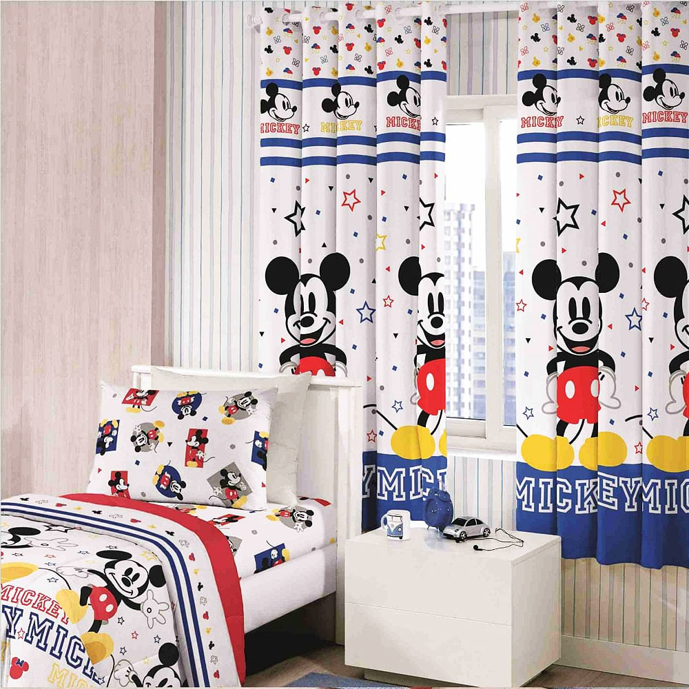 55a4982d7a Cortina Infantil Mickey - Santista - emporiodolencol