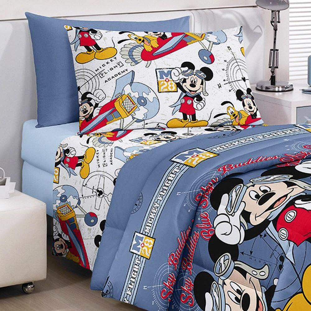 94c1352f30 Jogo de Cama Infantil Mickey - Santista - emporiodolencol