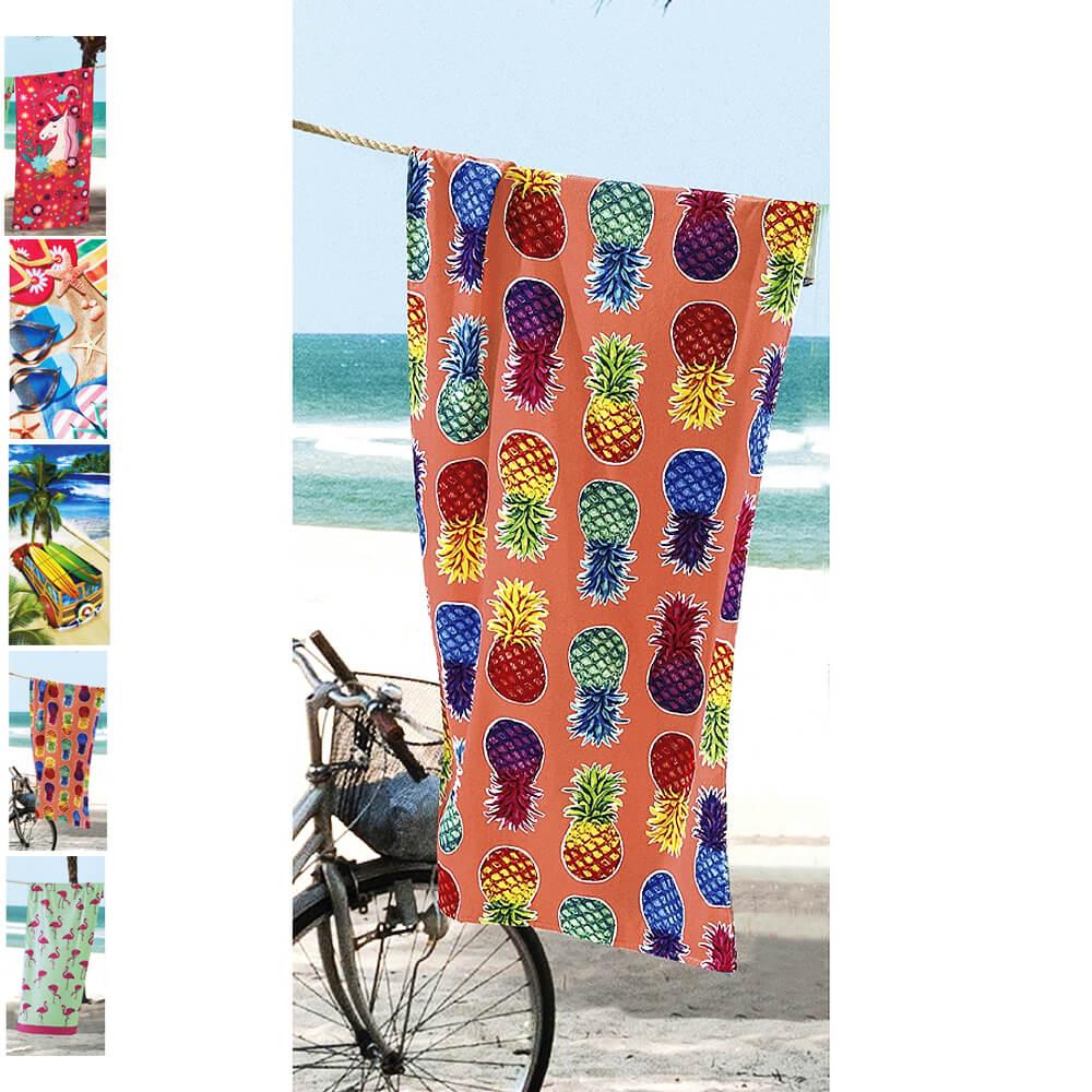3dc251298 Toalha de Praia Aveludada 100% Algodão - Dohler - emporiodolencol