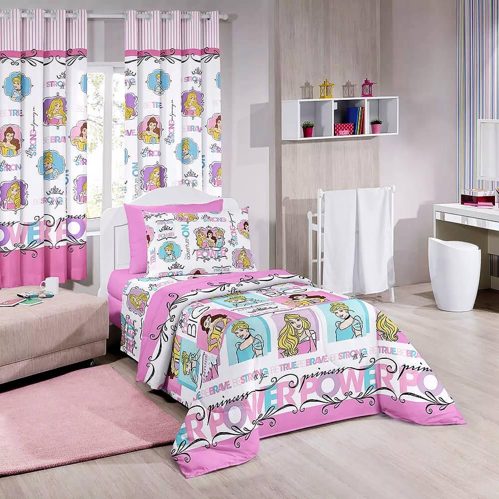 Jogo de cama infantil princesas da disney santista - Camas infantiles de princesas ...