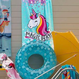 Toalha-de-Praia-100--Algodao-Infantil-Unicornio-Magic---Santista