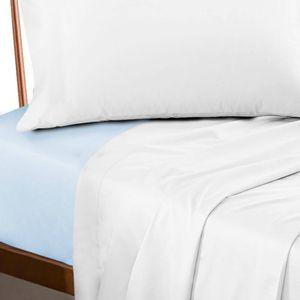 Lençol Profissional Casal com Elástico 200 Fios - Premium Azul