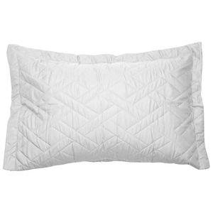 Porta-Travesseiro-com-Abas-Matelado-Microfibra-Le-Classic-Hedrons-Branco