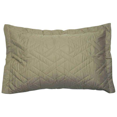 Porta-Travesseiro-com-Abas-Matelado-Microfibra-Le-Classic-Hedrons-Caqui