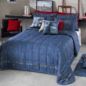 Kit-Colcha-Cobre-Leito-Casal-Estampa-Jeans-Versatile-Hedrons