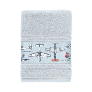 Toalha-Banho-Infantil-Felpuda-Aero-Karsten-Azul-Glace